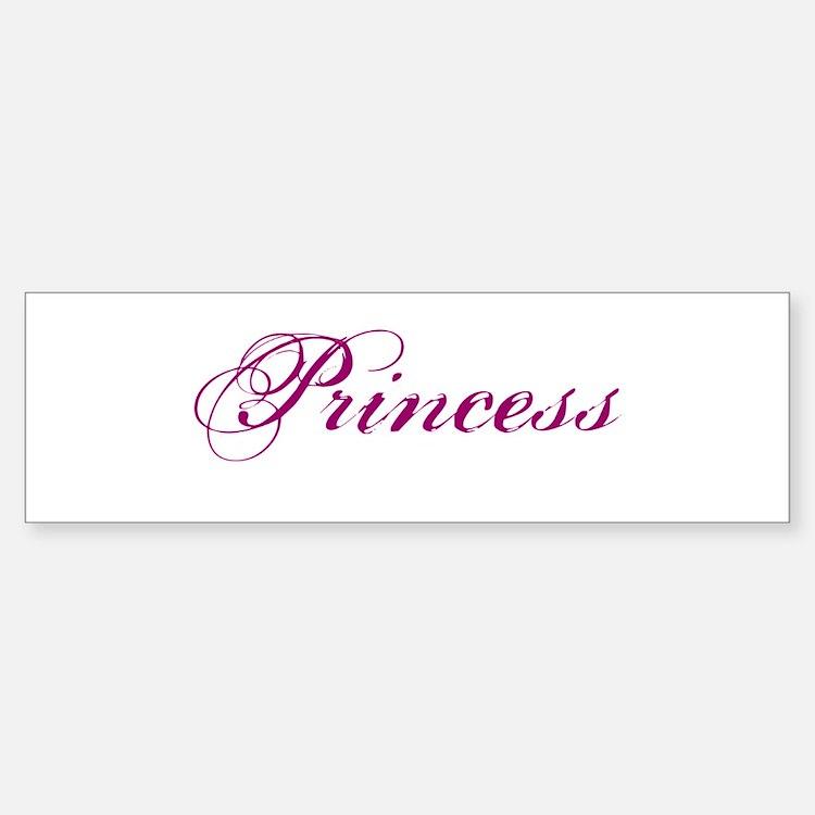 26. Princess Bumper Bumper Bumper Sticker