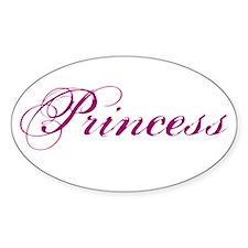 26. Princess Oval Decal