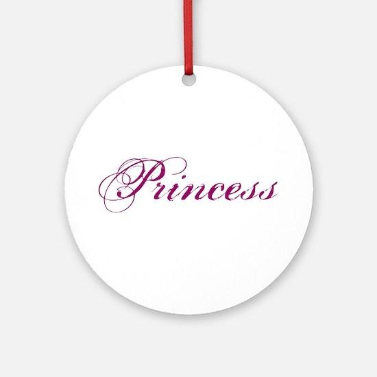 26. Princess Ornament (Round)