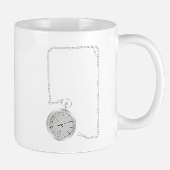 Silver Watch and Chain Border Mugs