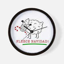 Fleece Navidad! Wall Clock