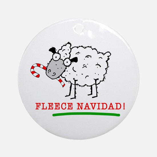 Fleece Navidad! Ornament (Round)