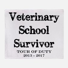 Veterinary School Survivor Throw Blanket