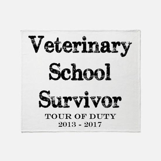 Veterinary School Survivor Throw Blanket