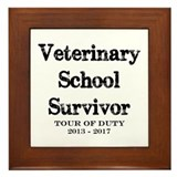 Veterinarian Framed Tiles