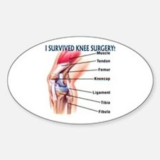 Knee Surgery Gift 6 Oval Decal