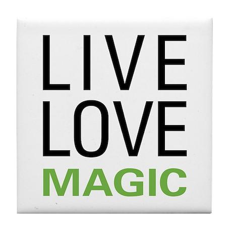 Live Love Magic Tile Coaster