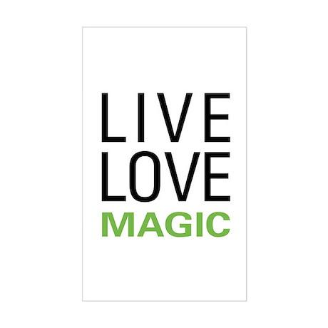 Live Love Magic Rectangle Sticker