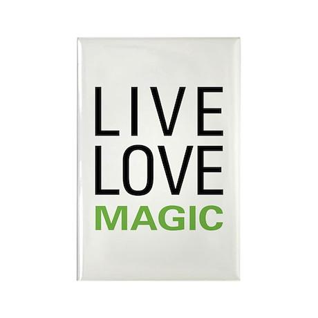 Live Love Magic Rectangle Magnet (100 pack)