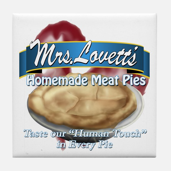 meat pie Tile Coaster