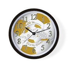 Team Game Football Time Wall Clock