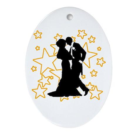 Ballroom Dance Couple Oval Ornament