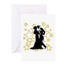 Ballroom Dance Couple Greeting Cards (Pk of 10)
