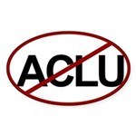 No ACLU Oval Sticker