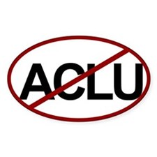 No ACLU Oval Decal
