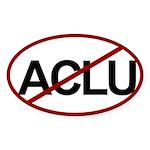 No ACLU Oval Sticker