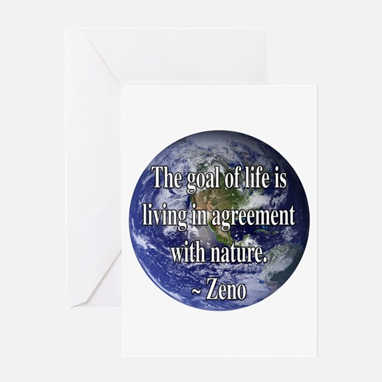 Living With Nature Quote Greeting Card