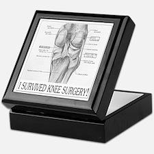 Knee Surgery Gift 8 Keepsake Box