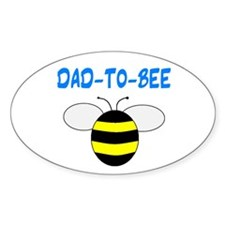 DAD-TO-BEE Oval Decal