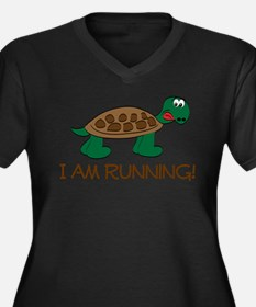 Running Tortoise Plus Size T-Shirt
