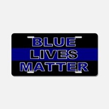 Blue Lives Matter Stripe Aluminum License Plate