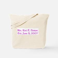Mrs. Keri E. Goram Est. June Tote Bag