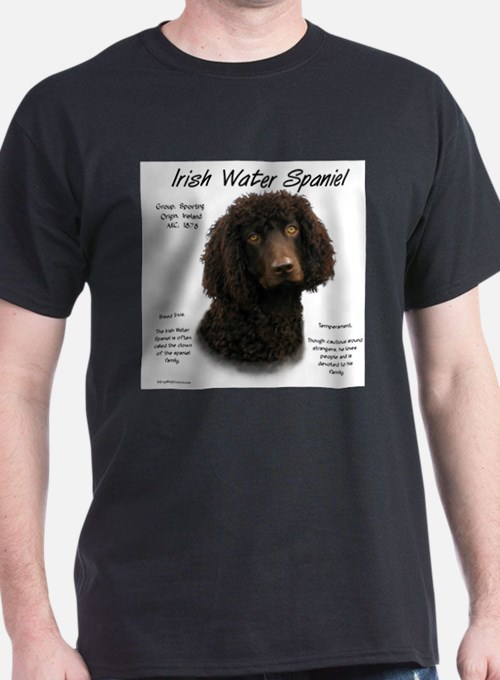 Irish Water Spaniel Ash Grey T-Shirt