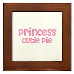 Princess Cutie Pie Framed Tile