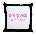 Princess Cutie Pie Throw Pillow