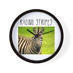Racing Stripes Wall Clock