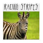 Racing Stripes Tile Coaster