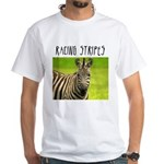 Racing Stripes White T-Shirt
