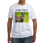 Racing Stripes Fitted T-Shirt