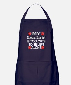 Sussex Spaniel Is Too Cute Apron (dark)