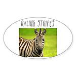 Racing Stripes Oval Sticker