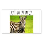 Racing Stripes Rectangle Sticker