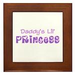 Daddy's Lil' Princess Framed Tile