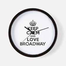 Keep Calm and Love BROADWAY Wall Clock
