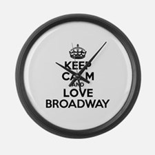 Keep Calm and Love BROADWAY Large Wall Clock