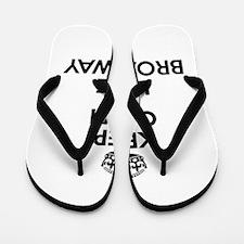 Keep Calm and Love BROADWAY Flip Flops