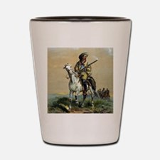 Buffalo Bill Vintage Painting Shot Glass