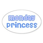 Monday Princess Oval Sticker