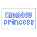 Monday Princess Rectangle Sticker