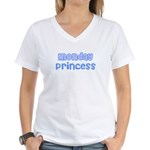 Monday Princess Women's V-Neck T-Shirt