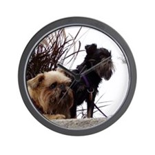 Rough Brussels Griffons Wall Clock