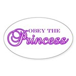 Obey the Princess Oval Sticker