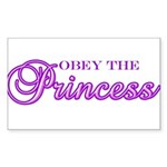 Obey the Princess Rectangle Sticker