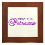 Obey the Princess Framed Tile