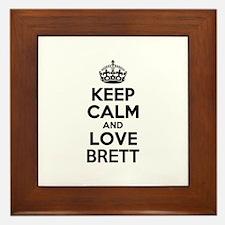 Keep Calm and Love BRETT Framed Tile