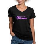 Obey the Princess Women's V-Neck Dark T-Shirt